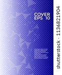 vector report template. global... | Shutterstock .eps vector #1136821904