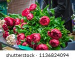 beautiful flowers on display at ... | Shutterstock . vector #1136824094