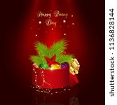 happy boxing day. winter... | Shutterstock .eps vector #1136828144