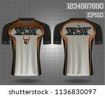 sport shirt  t shirt sport... | Shutterstock .eps vector #1136830097