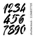 vector set of calligraphic... | Shutterstock .eps vector #1136837735