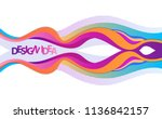 bright elements with gradient... | Shutterstock .eps vector #1136842157