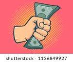 vector illustration of a fist... | Shutterstock .eps vector #1136849927