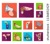 manipulation by hands flat... | Shutterstock .eps vector #1136852429