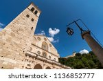 spoleto  cathedral  view from...   Shutterstock . vector #1136852777
