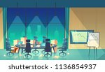 vector conference hall for... | Shutterstock .eps vector #1136854937