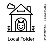 shelter for dogs and cats... | Shutterstock .eps vector #1136860361