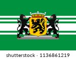 flag of east flanders is a... | Shutterstock .eps vector #1136861219
