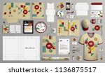 vintage mosaic corporate... | Shutterstock .eps vector #1136875517