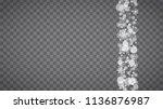 blizzard snowflakes on... | Shutterstock .eps vector #1136876987