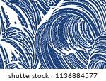 grunge texture. distress indigo ... | Shutterstock .eps vector #1136884577