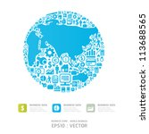 elements are small icons...   Shutterstock .eps vector #113688565