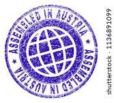 assembled in austria stamp... | Shutterstock .eps vector #1136891099