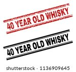 40 year old whisky stamp seal... | Shutterstock .eps vector #1136909645