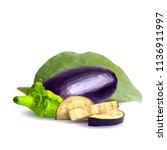 fresh  nutritious  tasty... | Shutterstock .eps vector #1136911997