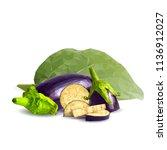 fresh  nutritious  tasty... | Shutterstock .eps vector #1136912027