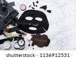 charcoal peel off mask   ... | Shutterstock . vector #1136912531