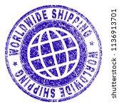 worldwide shipping stamp... | Shutterstock .eps vector #1136913701