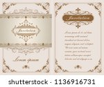 decorative frame in vintage... | Shutterstock .eps vector #1136916731