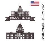 state of rhode island. rhode... | Shutterstock .eps vector #1136917964