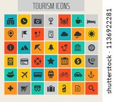 big travel  tourism and weather ... | Shutterstock .eps vector #1136922281