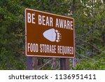 Be Bear Aware Warning Sign...