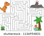 educational maze game for... | Shutterstock .eps vector #1136954831