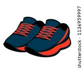 sports footwear  athletic shoes ... | Shutterstock .eps vector #1136959997