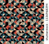seamless hot geometric pattern...   Shutterstock .eps vector #1136968394