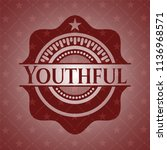 youthful badge with red... | Shutterstock .eps vector #1136968571