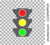 traffic light icon | Shutterstock .eps vector #1136969924