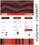 light red vector ui kit with...