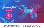 summer sale card design banner...   Shutterstock .eps vector #1136990777