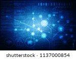 2d illustration technology... | Shutterstock . vector #1137000854