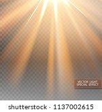 vector sunlight. sun beams or... | Shutterstock .eps vector #1137002615