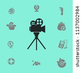 videocam on a tripod vector... | Shutterstock .eps vector #1137002984
