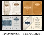 set of decorative frame in... | Shutterstock .eps vector #1137006821