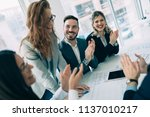 succesful enterprenours and... | Shutterstock . vector #1137010217