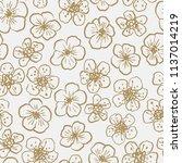 elegant hand drawn seamless... | Shutterstock .eps vector #1137014219