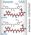 curcumin molecule. enol and...   Shutterstock .eps vector #1137015167