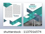 modern business annual report... | Shutterstock .eps vector #1137016574