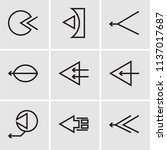 set of 9 simple editable icons... | Shutterstock .eps vector #1137017687