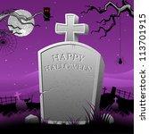 illustration of happy halloween ... | Shutterstock .eps vector #113701915