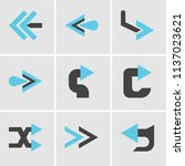 set of 9 simple editable icons... | Shutterstock .eps vector #1137023621