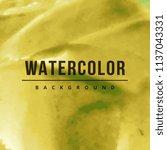 watercolor splatter background | Shutterstock .eps vector #1137043331