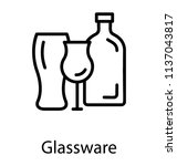 different glass vessels in a... | Shutterstock .eps vector #1137043817