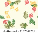 tropical background. green ... | Shutterstock .eps vector #1137044231