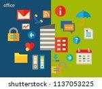 office conceptual illustration | Shutterstock .eps vector #1137053225