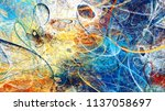 abstract bright color motion... | Shutterstock . vector #1137058697