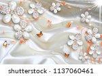3d wallpaper design with... | Shutterstock . vector #1137060461